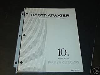 1958 SCOTT ATWATER OUTBOARD MOTOR 10 HP PARTS MANUAL