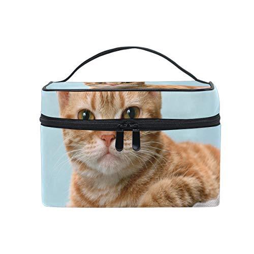 Sac cosmétique avec fermeture à glissière simple couche Cat Voyage Sac de rangement Portable Maquillage Pouch Sac Organisateur Cas pour les femmes