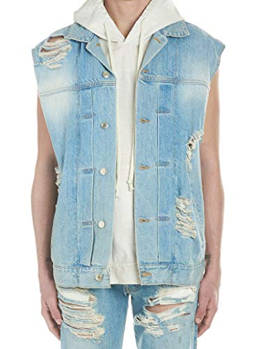 Luxury Fashion | Ih Nom Uh Nit Heren NMS19602117 Blauw Katoen Gilets | Seizoen Outlet