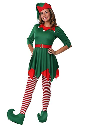 Women's Santa's Helper Costume - L Green