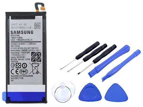 2in1-SET Akku für Samsung Galaxy A5 (2017) - Ersatzakku Li-Ion mit 3000mAh inklusive Werkzeug SET