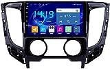 AEBDF Android 9.1 Navegación estéreo para automóvil para Mitsubishi Triton (MT) 2015,9 Pulgadas Sat Nav Pantalla táctil Bluetooth Player Multimedia con Enlace,4Core WiFi+4G 1+32G