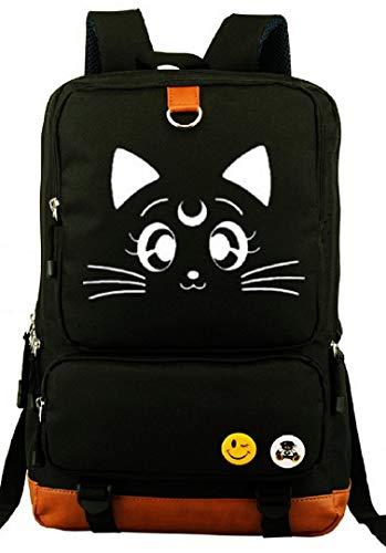 YOYOSHome Anime Sailor Moon Cartoon Luna Canvas Luminous Bookbag Backpack School Bag