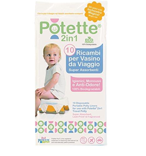 Ricambi per Potette Plus 2 in 1 - Pacco da 10 Bustine Usa e Getta per Potette Plus