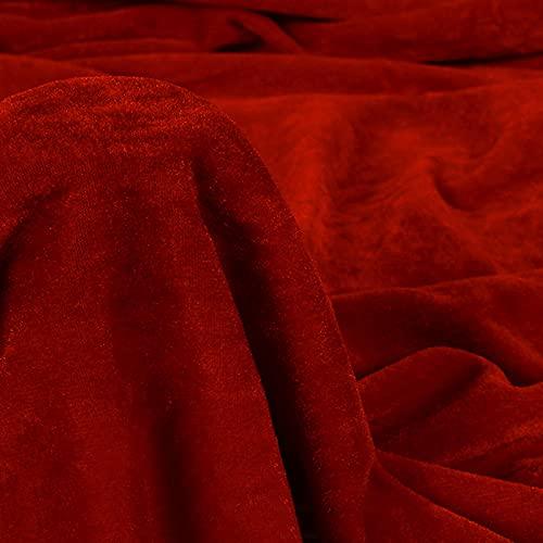 Tejido De Terciopelo Telón De Fondo Tejido De Tapicería Tela De Costura De Un Color Fondo De Terciopelo Anti-Arrugas Pantalla Background Cloth Vendido Por Metro(Size:80x100cm/31x39in,Color:Vino rojo)