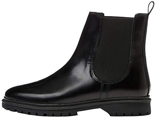 find. Chunky Leather Botas Chelsea, Negro Black, 36 EU