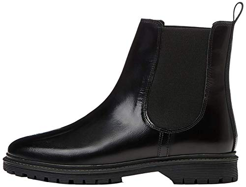 find. Chunky Leather Chelsea Boots, Schwarz Black), 37 EU