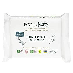 Eco by Naty Unscented Wipes, Biodegradable, Hypoallergenic