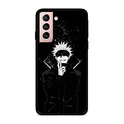 LUOKAOO Case for Samsung Galaxy S21, Gojou Satoru-Jujutsu 0 Soft TPU Black Anti-Scratch Coque Fundas Silikon