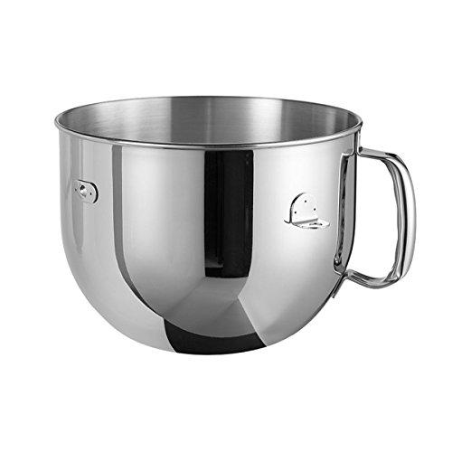 Kitchenaid BOL 6.9L Acier INOX Poli 5KR7SB Edelstahlschüssel 6,9 Ltr. poliert nur für HP Geräte, Edelstahl, silber