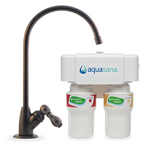 Aquasana AQ-5200.62 2-Stage Under Sink Water Filter System with Oil-Rubbed Bronze Faucet