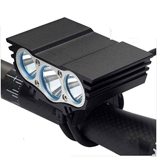 YGWLWL 3Xt6 Fahrradscheinwerfer,LED Fahrrad Fahrrad Fahrrad Licht,Wiederaufladbares USB-Fahrradlicht Mit Lampenfassung Aus Aluminiumlegierung,Maximale Leistung 15000 Lumen