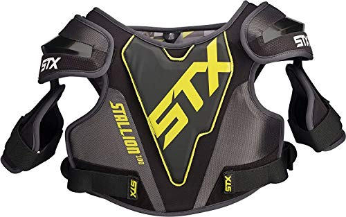 STX New Youth Stallion 100 Lacrosse Shoulder Pads (M, Black)