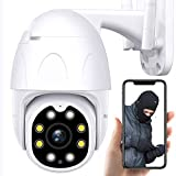 Dragon Touch Security Camera Outdoor, 1080P HD PTZ Outdoor Camera Wi-Fi for Home