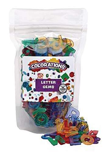 Colorations Plastic Translucent Multi-Color Uppercase Letters, 3/4