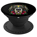Great Dane Dog Sugar Skull Day of The Dead Dia de Muertos PopSockets Grip and Stand for Phones and Tablets