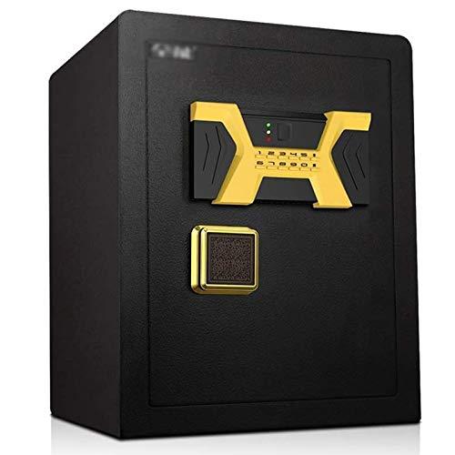 Cabinete seguro Caja fuerte Contraseña de acero segura para uso doméstico, gabinete de seguridad antirrobo de tamaño mediano de oficina, caja de caja de joyería de caja de efectivo caja fuerte
