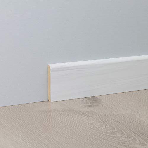 Sockelleiste Fußbodenleiste Standard aus MDF in Scandia 2600 x 10 x 60 mm