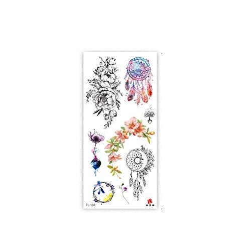 6 Hojas Temporales Para Adultos, Atrapasueños Pluma Mariposa Ballena Planeta Resistente Al Agua Tatuaje Temporal Adhesivos Diseños Diferentes Negro Tatuajes De Cuerpo Art Para Brazo Pierna Cara Y Elim