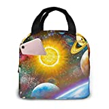 Cute Green Owls Portable Insulated Lunch Bag, Waterproof Tote Bento Bag For Office School Hiking Beach Picnic Fishing
