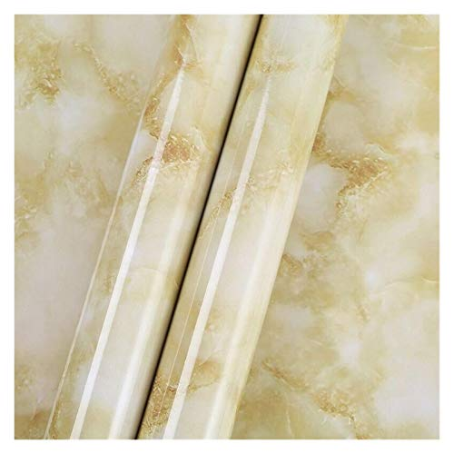 WHYBH HYCSP Kitchenwall Aufkleber Marmorcountertop Aufkleber Bad Selbstklebende wasserdichte Tapete (Color : Light Brown, Size : 10mx60cm)