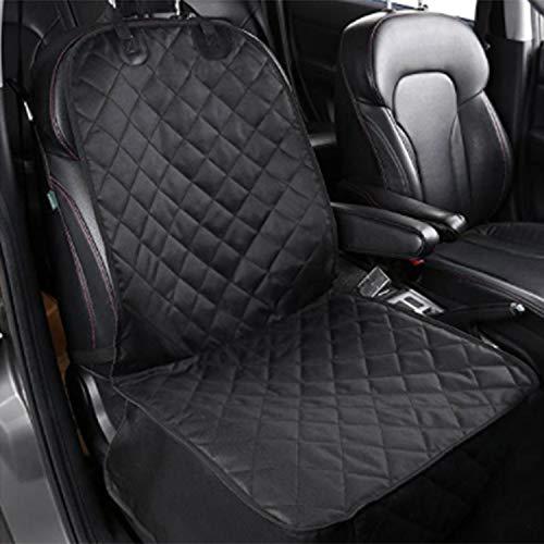 Yunjiadodo Autositz für Hunde, rutschfeste Gummirückseite, mit Anker und verstellbarem Autositz, Schwarz