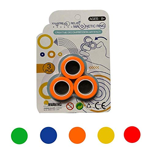 Syfinee Magnetic Bracelet Ring Unzip Toy Magical Ring Props Tools for Adult Kid