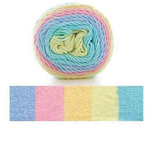 100 g 193M Segmento de arco iris Hilado teñido 5 Strand Lea DIY DIY Hecho A Mano Hecho A Mano Sweeter Sombrero Sombrero Sofá Sofá Cojín Hilado Chunky Knitting Wool Hilado de ganchillo ( Color : 29 )