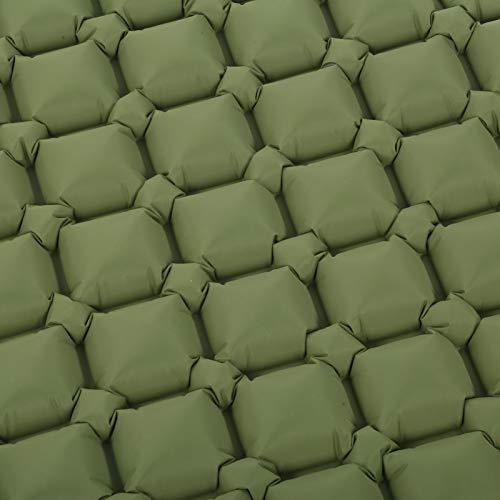 Eulbevoli Colchón de Aire, Verde Militar de Nylon de la Estera el Dormir de la Prenda Impermeable 40D para Acampar hacia Fuera(Armygreen)