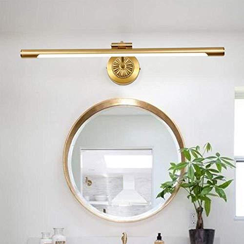 ZHUYUE zeer goede badkamerspiegel licht koper over spiegel-licht LED met acryl lampenkap voor badkamer make-up spiegel kaptafel warm licht (kleur: messing, maat: 7W)