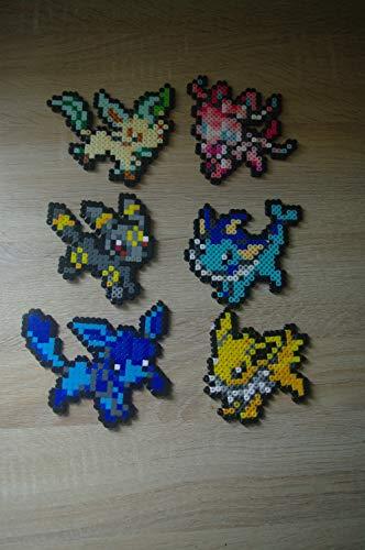 Sprite Eeveelution - Pokémon - Evoli/Eevee - Noctali/Umbreon - Espeon/Mentali - Nymphali ect. Hama Beads/Pixel Art