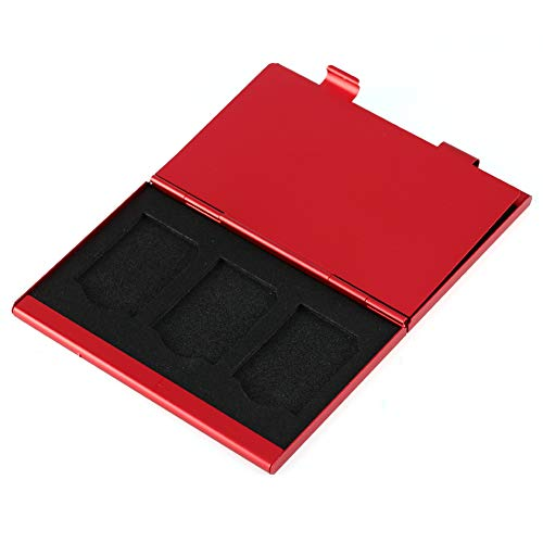 Estuche para Tarjetas de Memoria, Soporte para Tarjetas SD de tamaño Compacto, Aluminio de Calidad para Amantes de la fotografía Buen Accesorio Fácil Transporte y Almacenamiento Capacidad