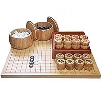 YYFANG 囲碁、 シングルコンベックスYunziストーンとバンブーボウル付き 囲碁ゲームセット教育 (Color : #E, Size : 47X44CMX2CM)