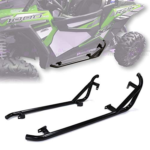 WASTOREEL Side Nerf Bars Fit for 2014+ Polaris RZR XP Turbo/S/ 900/1000 Rock Slider Replacement, Pair