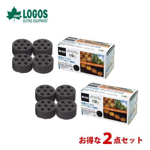 ロゴス(LOGOS) 着火剤 固形燃料 エコココロゴス・ミニラウンドストーブ4 ecoなヤシガラ炭 2個セット