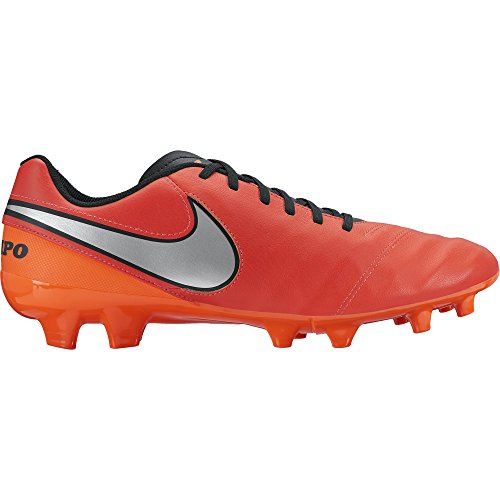 Nike Herren Tiempo Genio Ii Lea Fg Fußballschuhe, rot/schwarz, 41 EU