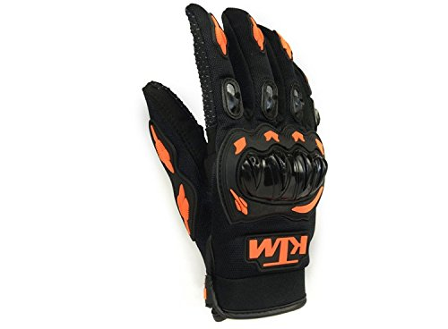 KTM Moto Biker Hand Gloves for Riding Bikes/Motorcycles/Cycles (Orange, Large)