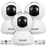 Garza SMARTHOME - Caja Camaras de vigilancia WiFi IP 360 Grados Alexa, Google, Android, iOS Garza Smarthome Kabra (Set 3 cámaras de vigilancia WiFi Exterior)