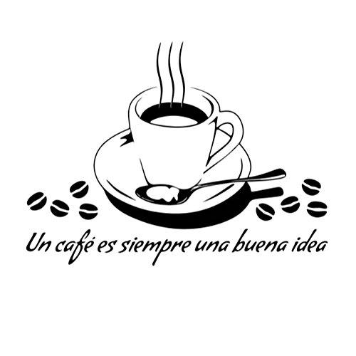 Joyfeel buy 1 Unidades de BRICOLAJE Negro Impermeable Pegatinas de Pared Cafetería Casa Cocina Sala de estar Decoración de Arte Pegatinas Murales, 40 * 30 CM