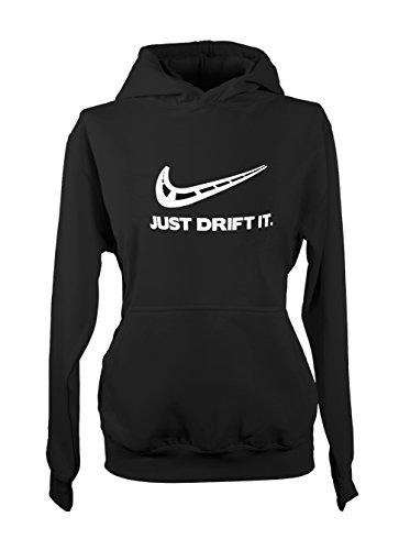 Teequote Just Drift It - Drift und Motorsport Fans Tuning Damen Hoodie Sweatshirt Schwarz X-Large