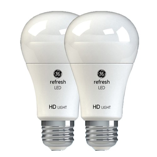 GE Refresh HD LED Light Bulbs, 60W Replacement, A19, 2-Pack, Daylight, Medium Base, Dimmable LED Light Bulbs