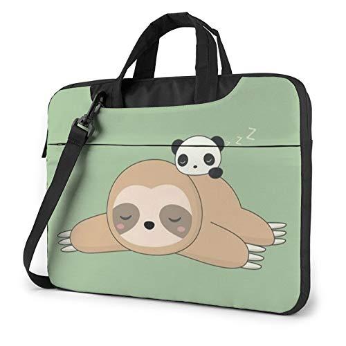 Laptop Case, Cute Panda and Sloth Print Laptop Shoulder Bags Multi-Functional Notebook Sleeve,13-14-15.6 Inch