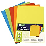 D.RECT 960138- Papel de color, A4, 100 hojas, 5 Tonos de Color, 5x20 hojas, multicolor