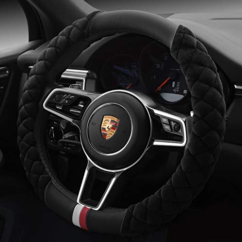 HAOKAY Luxurious Soft Plush Winter Steering Wheel Cover with...