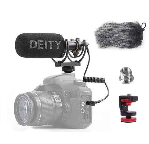 Deity V-Mic D3 Video Mic Micrófono con Pergear Deadcat Parabrisas ...