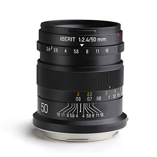 KIPON IBERIT 50mm F2.4 Full Frame Lenses for...
