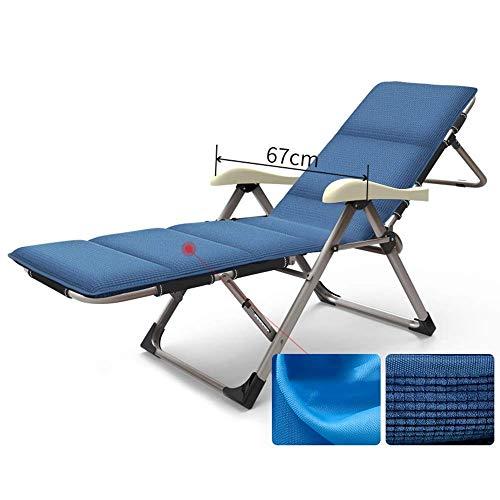 ZDZY Sillón reclinable Silla de jardín, Silla reclinable de Playa, Respaldo portátil, sillón, Silla Plegable Multiusos, Oficina en el hogar, Siesta (2 Colores) Silla (Color: Azul)
