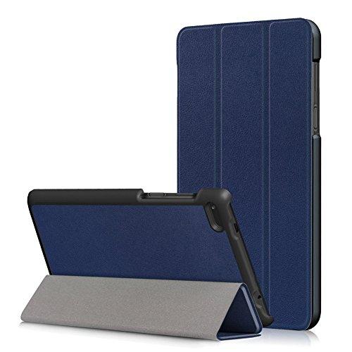 Kepuch Custer Funda para Lenovo Tab 7 Essential TB-7304F TB-7304I TB-7304X,Slim Smart Cover Fundas Carcasa Case Protectora de PU-Cuero para Lenovo Tab 7 Essential TB-7304F TB-7304I TB-7304X - Azul