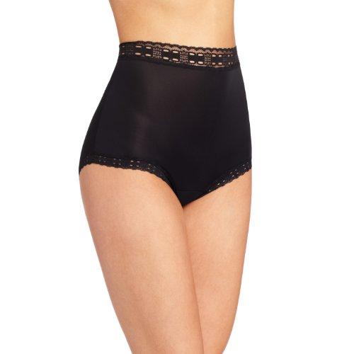 Olga Women's Secret Hug Fashion Scoops Brief Panty, Black, 6/M