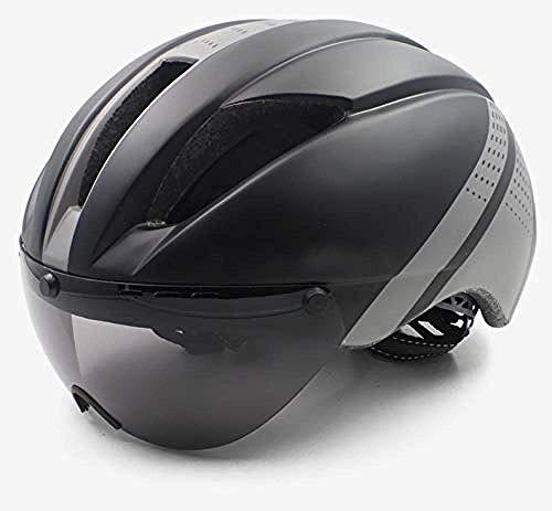 LYY Fahrradhelm Aero Helm Studie Fahrradhelm tt Zeit for Männer Frauen Brille Rennen Rennrad Helm mit Objektiv Ciclismo Fahrradtechnik